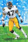 RARE MEL BLOUNT UNSIGNED GOAL LINE ART CARD~SOLD OUT SERIES ONE~FOOTBALL HOF