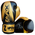 Leather Gel Boxing Gloves Training Sparring Grappling Gloves 4 OZ to 16 OZ
