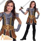 Child Warrior Cutie Costume Roman Girl Knight Book Week Day Fancy Dress Outfit