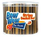 STRIPES 35g - (x3 / x40) - Bow Wow Dog Treat Food bp Smoked Beef Snack Meat Chew