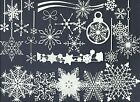 2 GROUPS COMBINED HANGERS SNOWFLAKE DIE CUTS* PUNCHIES* SUB-SETS LOTS 6-24  READ