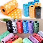 3 Rolls 45 Bags Pet Dog Cat Waste Poop Poo Refill Core Pick Up Clean-Up Bags Fad