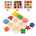 Kids Baby Wooden Learning Geometry Educational Toys Puzzle Montessori US