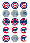 Chicago Cubs Edible Print Premium Cupcake/Cookie Toppers Frosting Sheets 2 Sizes