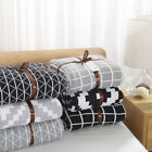 Soft Cotton Knitted Blanket Classic Lattice Pattern Summer Quilt 120*180 cm