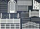 2 GROUPS COMBINED FENCE DIE CUTS* SUB-SETS LOTS 5-33 PCS. PICKETT ROCK WALL READ