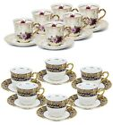 Внешний вид - Thun Porcelain 12pc Espresso Tea/Coffee Set, 24K Gold Czech Bone China Tableware