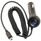 CAR DC COILED CORDED CHARGER POWER ADAPTER MINI USB BLACK for AT&T CELLPHONES
