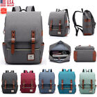 Bit of skirt Women Men Canvas Leather Travel Backpack Satchel Rucksack Laptop School Bag