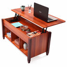 Lift Top Coffee Table w Hidden Compartment Storage Shelf Living Room Furniture
