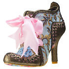 Irregular Choice Abigail's 3rd Party Womens Gold Leather & Fabric Shoes