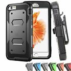 Outer Box Hard Rubber Hybrid Phone Case Cover w/ Clip For iPhone 8 7 6 6s Plus