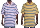 Chaps Men's Casual Stripe Big & Tall Rugby Polo Shirt Choose Color & Size