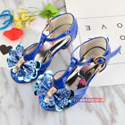 New Summer Kids Young Girls Bling High Heeled Sandals Close Toed Princess Fairy