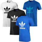 adidas Originals T-Shirt Crew Neck Trefoil Cotton Tee Top New Mens Size S M L XL