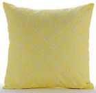 Yellow Art Silk 16X16in Lattice Trellis Decorative Pillows Cover-Yellow Sapphire