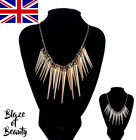 Ladies Fashion Necklace Spike Retro Jewellery Statement Costume Chain Style 2019