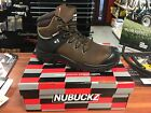 NEW Buckler NUBUCKZ saftey lace dark brown leather boots