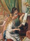 Young Girls at the Piano, 1892,   PIERRE-AUGUSTE RENOIR, Art on Canvas