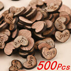 100-500pcs Rustic Wooden Wood Love Heart Wedding Table Scatter Decoration Crafts
