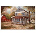 Richland General Store Poster Art Print, Countryside Home Decor