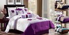 SET 3PC EMBROIDERY DUVET COMFORTER BED COVER GORGEOUS FLORALS DESIGNS PATTERNS  image