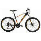 "27.5"" Steel Frame Mountain Bike 21 Speeds Front Suspension Bicycle Dics Brakes"