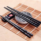 1 Pair Alloy Chopsticks Japanese style Chinese Kuaizi Long Sticks Non-Slip Black