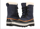 Sorel Mens 13 Caribou Leather Wool Boot Removable Liner Winter Snow WL Nocturnal