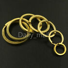 Solid Brass Split Rings Double Loop Key ring 15-38mm Leather Craft hardware