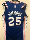 Ben Simmons 25 Throwback Swingman Jersey Philadelphia 76ers Blue Mens Stitched