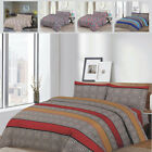 Modern Stripe Bedding Set-Duvet Cover With Pillow Case, Quilt Cover Fitted Sheet