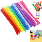 100X Chenille Stems Pipe Cleaners Kids Craft  Educational Toys Twist Rods S&K FO