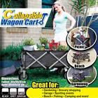 Folding Wagon Collapsible Cart Garden Buggy Sports black  grey camouflage black