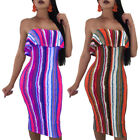 Sexy Womens Off Shoulder Bandage Bodycon Dress Club Party Cocktail Long Dress