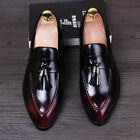 Fashion new mens boys tassels pointed toe dress shoes formal oxfords sizes 38-43