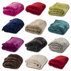 New Super Soft Faux Fur Throw Warm Fleece Sofa Bed Blanket Single to King Sizes