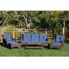 Outdoor Resin Wicker 6-Piece Patio Set with Cushions by Jeco