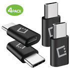 4x Micro USB to Type-C Adapter Converter Connector for Type-C Smartphone -4 Pack