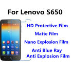 3pcs For Lenovo S650 High Clear/Matte/Anti Blue Ray Screen Protector