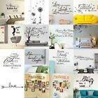 Removable Diy Art Vinyl Wall Sticker Decal Mural Quote Word Poem Room Decor New