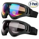 Ski Goggles, Pack of 2, Snowboard Goggles for Kids, Boys & Girls, Youth, Men W