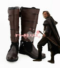 Star Wars 8 The Last Jedi Luke Skywalker Cosplay Boots Shoes Custom made Size JJ