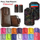 Leather Pull Up Tab Card Slim Flip Case Cover Pouch For Huawei Y6/P Smart/P20/7A