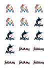Miami Marlins Edible Print Premium Cupcake/Cookie Toppers Frosting Sheets 2 Size on Ebay