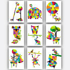 Art Print GEOMETRIC ANIMAL Collection Kids Picture Poster Nursery Baby Wall Art
