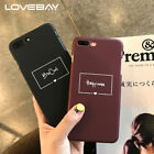 Lovebay Fashion Red Wine Letter Phone Case For iPhone X 8 7 6 6s Plus Cute