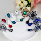 Women's Luxury Rhinestone Alloy Brooch Pin Large Waterdrop Pendent Party Hot