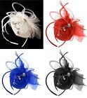 Vintage Fascinator Headband Diamante Wedding Ladies Day Race Royal Ascot Pillbox