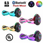 """Flash Wheel UL 2272 Certified Hoverboard 6.5"""" Bluetooth Speaker with LED Light"""